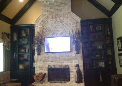 karen b after bookcase beams